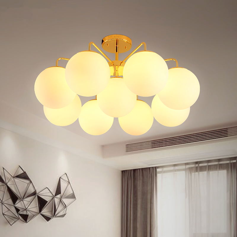Modern LED chandelier ceiling Glass ball lamps Nordic hanging lights bedroom lighting fixtures living room suspension