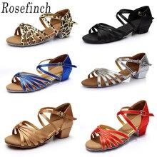 Танцевальная обувь для латиноамериканских детей сальса для латинских танцев Танцевальные Кроссовки для бальных танцев обувь для девочек обувь для латинских танцев C02D