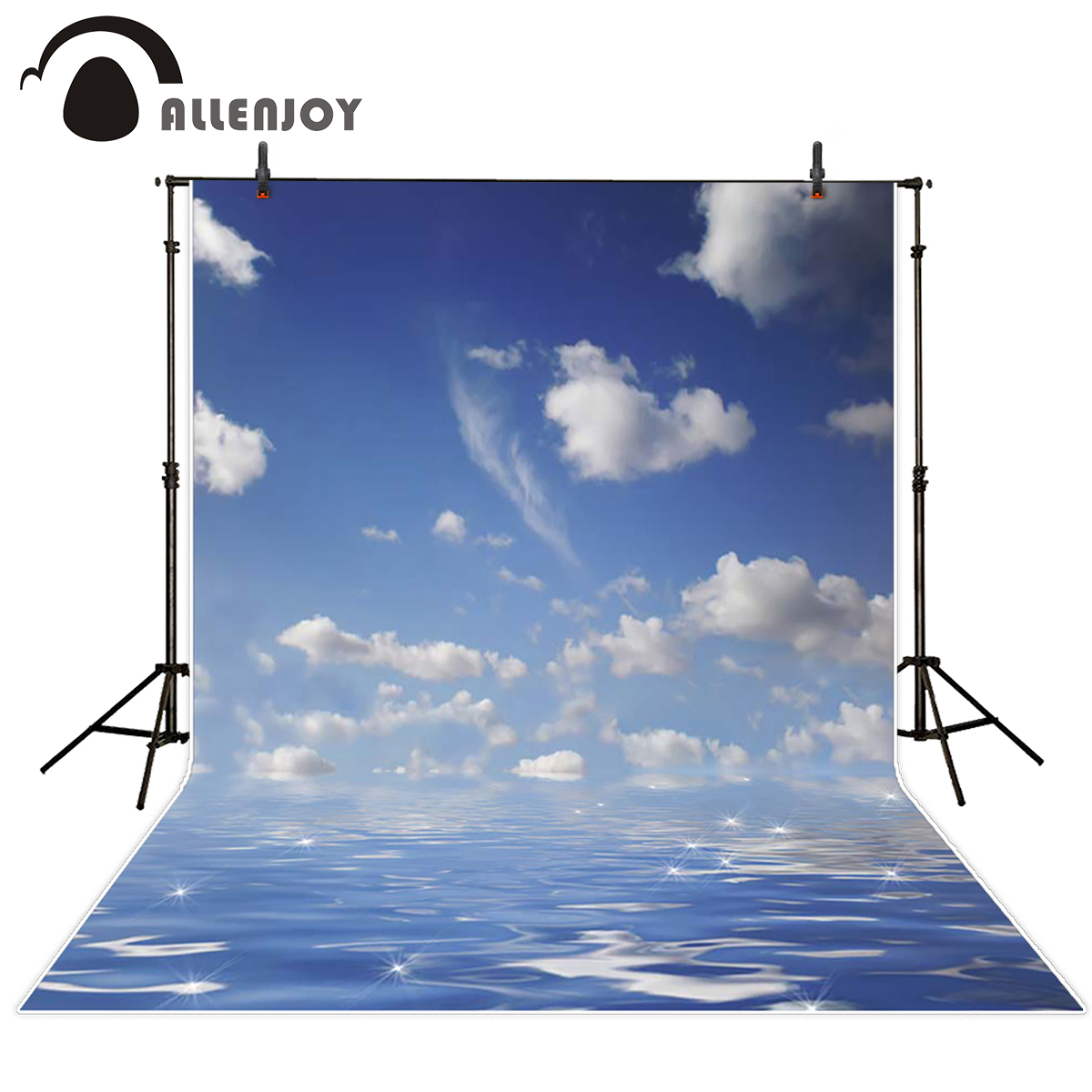 Allenjoy scenic Photo background Sea clouds sky shiny sparkling water photography Vinyl photography backdrops photo studio