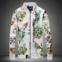 2019 new spring men's standard collar jacket dress the irregular pattern of large men's casual jackets coat large size M 5XL