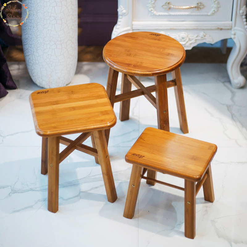 Low Stool Child Solid Wood Household Adult Round Stool Fishing Radish Small Stool 17 styles shoe stool solid wood fabric creative children small chair sofa round stool small wooden bench 30 30 27cm 32 32 27cm