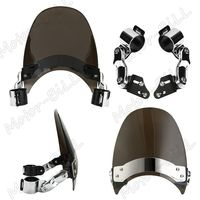 XYIVYG 39mm Clamp Windscreen Windshield For Harley Dyna Softail Sportster Road King