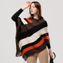 2019 women scarf thick warm winter cashmere ponchos and caps for lady pashmina soft large size female echarpe knit coat