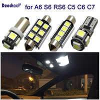 27 pièces voiture lumière LED pour Audi A6 S6 RS6 C5 C6 C7 berline Avant 97-16 Canbus Auto intérieur lumière Kit dôme lampes de lecture ampoules