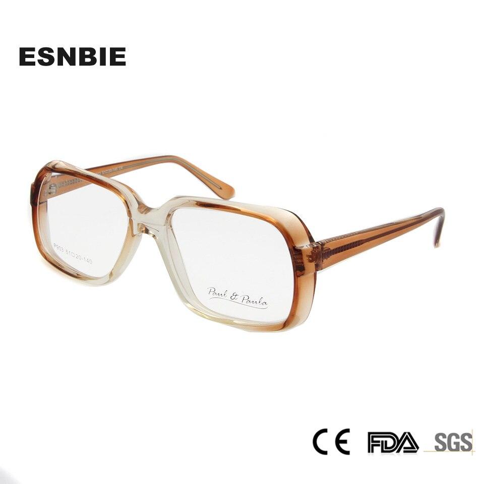 2e07585a9e65e ESNBIE CP Quadro Óculos Mulheres de Grandes Dimensões De Vidro Lerdo Óculos  Femininos Do Vintage lentes