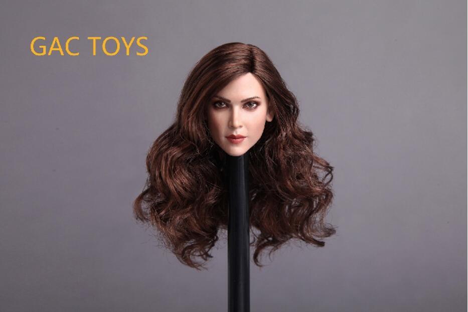 """KUMIK 16-23 B 1//6 Female Head Sculpt Fit 12/"""" Hot Toys Phicen Action"""