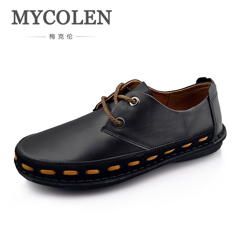 MYCOLEN European Goods Business Casual Shoes Leather Shoes High Quality Men's Leather Luxury Brand Top Fashion Man Shoes aetoo european goods art casual leather