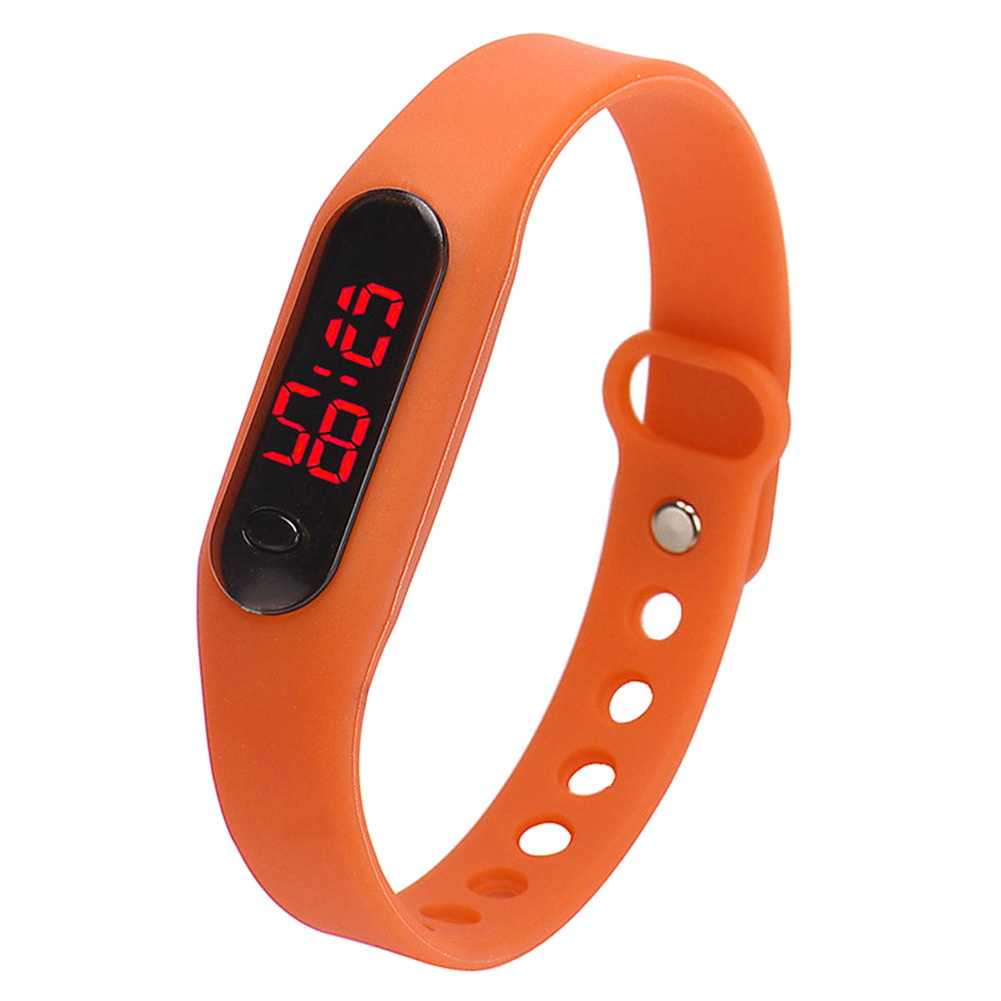 YCYS-Fashion Child Movement Silica Gel LED Watch Orange