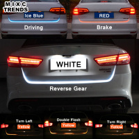 Ice Blue Red Yellow White LED Strip Rear Trunk Tail Light Multicolor Car Brake Turn Signal