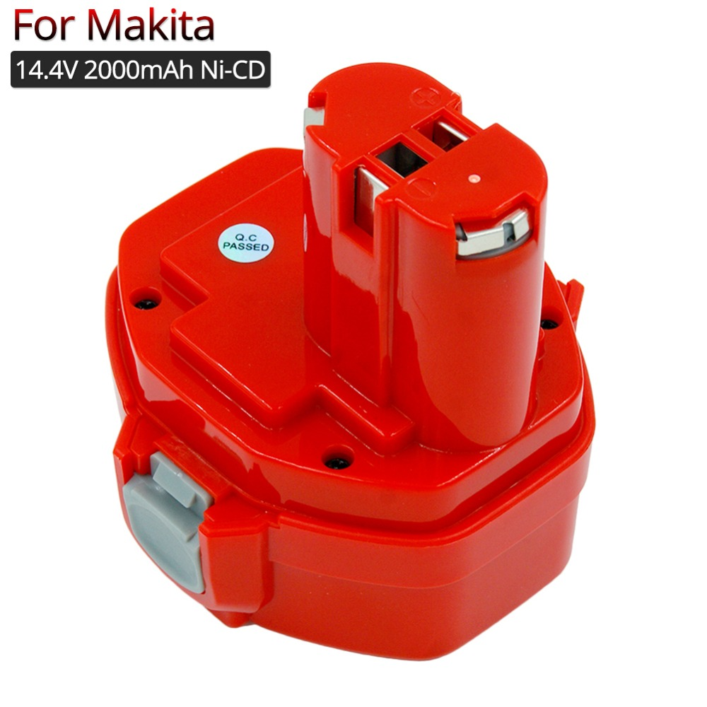 Cordless Power Tools Rechargeable Battery 14.4V 2A Ni-Cd for <font><b>Makita</b></font> 1420 1422 1433 1434 replacement battery <font><b>6281D</b></font> 6381D Drills image