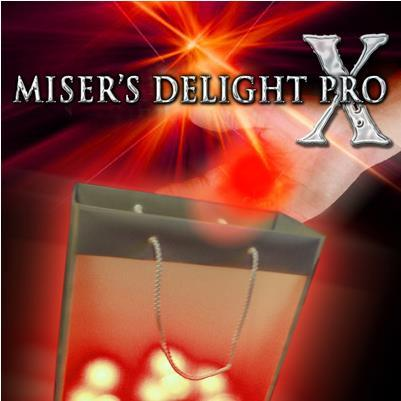 Free shipping!  Misers Delight Pro X from Mark Mason (Red Light),stage magic,amazing tricks,street,Illusions,mentalism,Fun