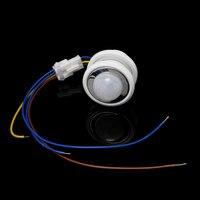 40mm LED PIR 감지기 적외선 모션 센서 스위치 시간 지연 조절 가능