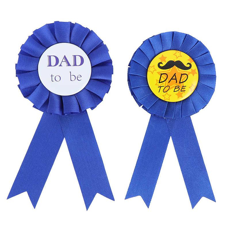 1 Pc Verjaardag Meisje/Jongen Vader Worden Baby Shower Verjaardagsfeestje Lint Badge Supply Pasgeboren Party Decoratives Gift accessoire