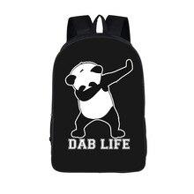 Dab панда рюкзак Для женщин школьная сумка для ноутбука для подростков Обувь для девочек 16 дюймов детский сад Книга сумка rugzak vrouwen Малыши Смешные сумка