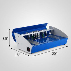 high quality pneumatic paper cardboard creasing machine with electrical control