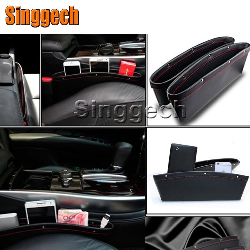 1Pcs Car Seat Gap Slit Pocket Storage Box For Ford Focus 2 3 1 Fiesta Mondeo Kuga Ecosport Alfa Romeo 159 147 156 166 GT Mito