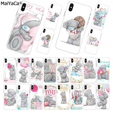 MaiYaCa silikon telefon fall Low großhandel Tatty Teddy Mir, Sie Tragen für iphone 11 pro 8 7 66S Plus X 10 5S SE 5C XS XR XS MAX(China)