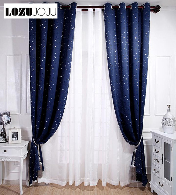 patterned curtains for living room best ideas small rooms lozujoju beautiful drops sky star tulle kid bedroom windows full blind blackout drape