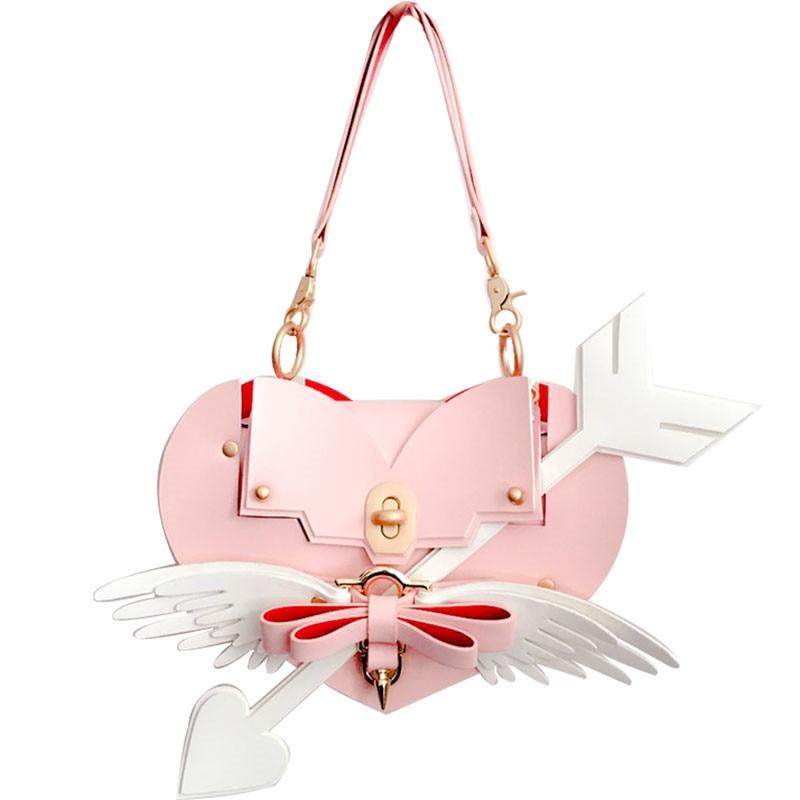 Heart type female shoulder package dinosaur lovely pink bag New wings, butterfly knot, lovely small Satchel temptu pro transfer sweet tribal butterfly wings трансферная татуировка
