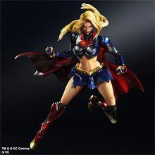 30cm Toys Play Arts Kai Superwoman SUPERGIRL Superman Boxed DC Action Figures Model Superwomen