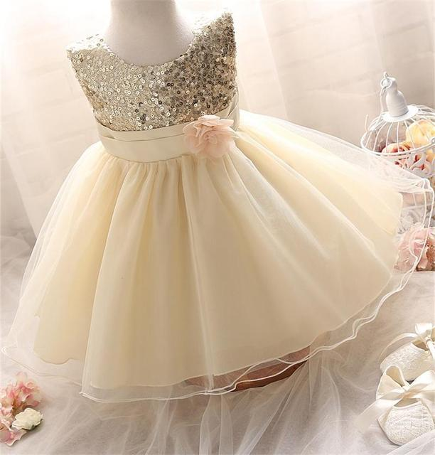 dc83b84a9072 Girl Dress Sequins Pageant Party Baby Kids Clothing Flower Baby Girl ...