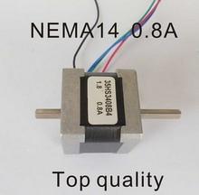NEMA14 Stepper Motor Dual Shaft 18N.cm 25oz-in Motor Length 34mm CE Rohs CNC Stepping Motor