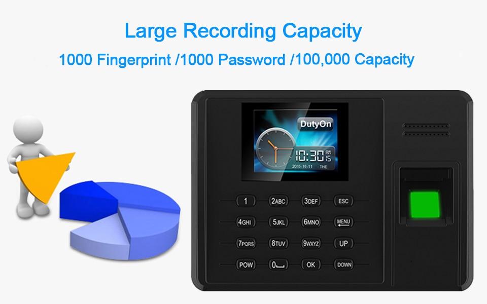 HTB1ik.vXUjrK1RkHFNRq6ySvpXak Eseye Attendance System Fingerprint TCPIP USB Password Office Time Clock Employee Recorder Device Biometric Time Attendance