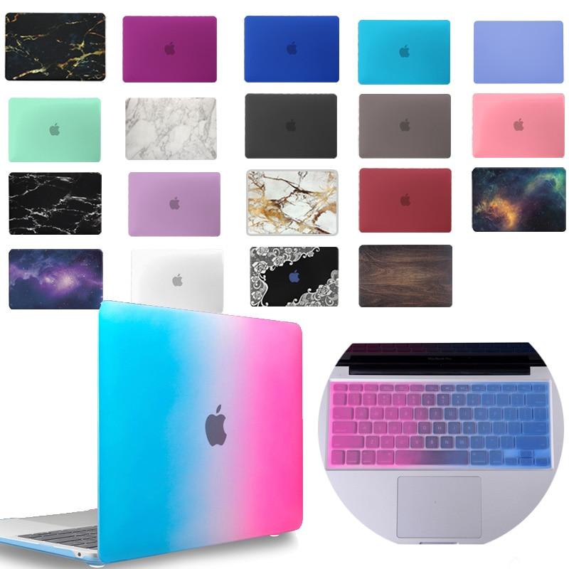 KK&LL Matte Hard Shell Laptop Protector case + Keyboard Cover For Apple MacBook Air Pro Retina 11 12 13 15