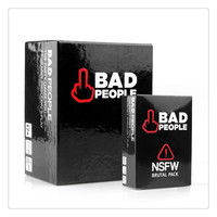 Adult Party Cards Game Bad People The Complete Set Basic Game Plus The NSFW Brutal Expansi Board Game