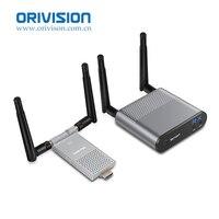 Air Мини 200 M/656FT 2,4 GHz/5 ГГц Беспроводной Wi Fi HDMI Аудио Видео удлинитель передатчик Отправитель приемник комплект с ИК Loop Out