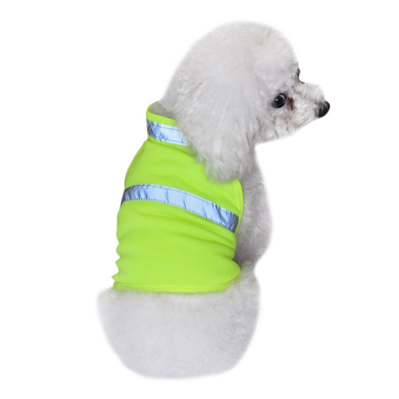 Hot Pets Fluorescent Security Dog Reflective Waterproof Vest Clothes Safety Luminous Pet Clothing