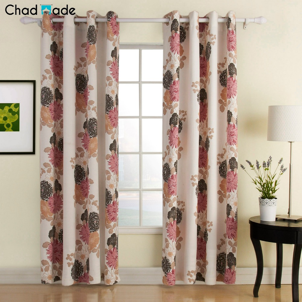 ChadMade Country Style Polyester Cotton Blend Flower Printed Curtain    Blackout Lined Curtain Drape for Bedroom Club YL1221 19. Compare Prices on Country Bedroom Curtains  Online Shopping Buy