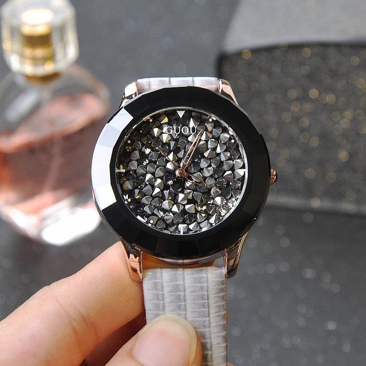 Luxury Ceramic Dial font b Women b font font b Watch b font Ladies Girls Crystal