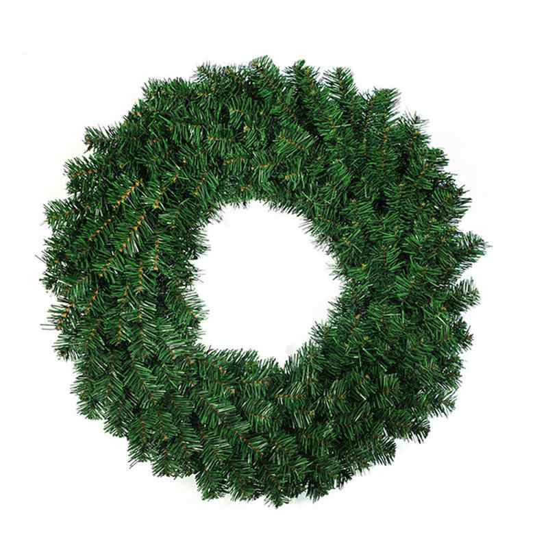 40CM Christmas Wreath Front Door Hang Garland With Pine Needles For Party Decoration New Year Elegant Holiday Wreath Decoration