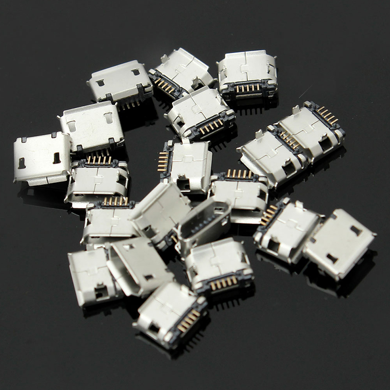 20pcs High Quality Micro USB Type B Female 5 Pin SMT Placement SMD DIP Socket Connector Plug Adapter wholesale 20 pcs micro usb type b female 5 pin smt placement smd dip socket connector plug adapter