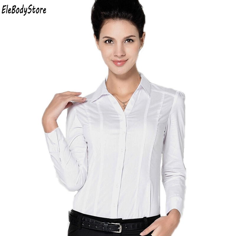 Tamaño 2019 Tops Camisa Casual Azul Mujer Azul Blusa Oficina Manga Larga Camisas De blanco Blusas Blanco Mono Ropa Cuerpo Blusas Plus Sx1BFwqq