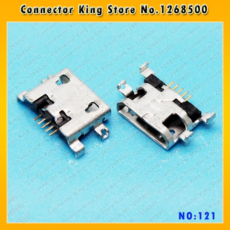 ChengHaoRan New Micro USB Female Connector for HUAWEI Y511-T00 U00 Y511 Lenovo S6000 Tablet Tail Charging Jack,MC-121 100pcs 10pcs each for 10 kind micro usb 5pin jack tail socket micro usb connector port sockect for samsung lenovo huawei zte htc