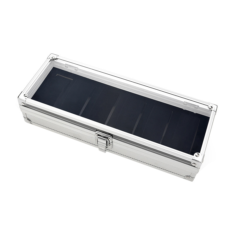 Image 4 - 6 Slots Watch Box Aluminum Display Case Organizer Jewelry Storage Tray CX17-in Watch Boxes from Watches