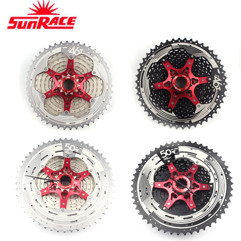 SunRace 11 speed CSMS8 CSMX8 11 40T 11 42 T 11 46 T Wide Ratio Bike Bicycle MTB Bicycle Mountain Cassette-in Bicycle Freewheel from Sports & Entertainment    1