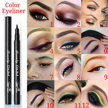 Newest Colorful Easywear Liquid Eye Liner Makeup Eyeliner Pencil Waterproof Long Lasting No-blooming Eyes Cosmetics for Women(China)