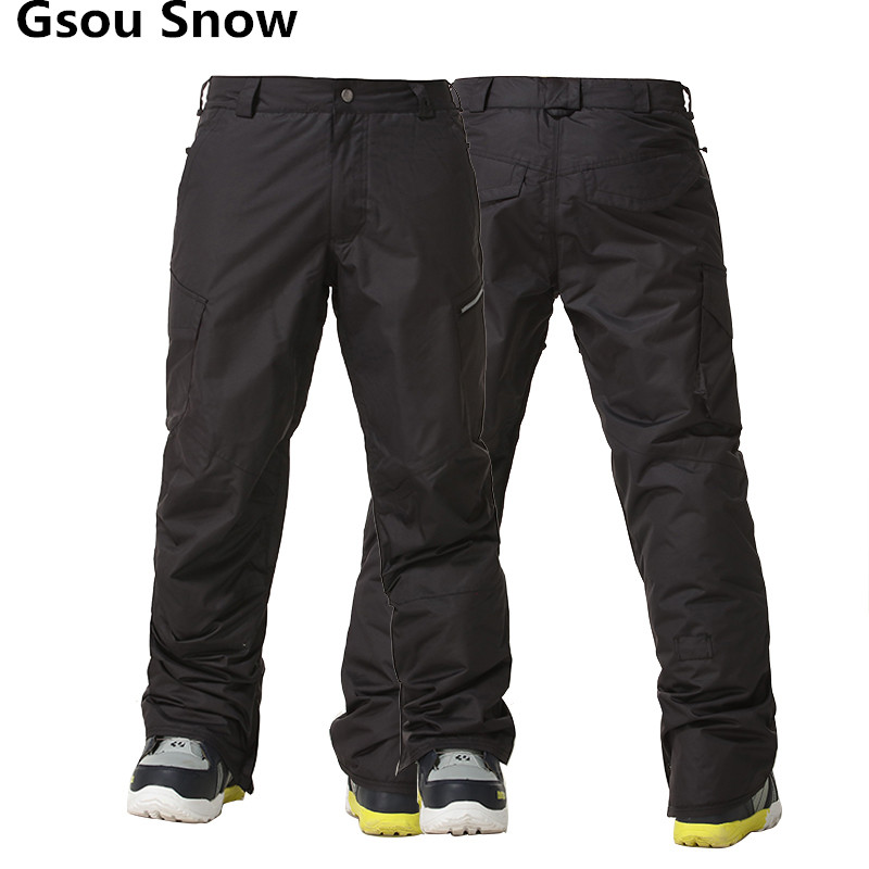 GSOU SNOW Brand Ski Pants Men Winter Ski Trousers Thermal Breathable Snowboard Pants Waterproof Skiing Snowboarding Trousers