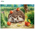 Cute Hedgehog 40x50cm No Frame home decor Pictures painting by numbers diy oil painting abstract paint by number kits szyh048
