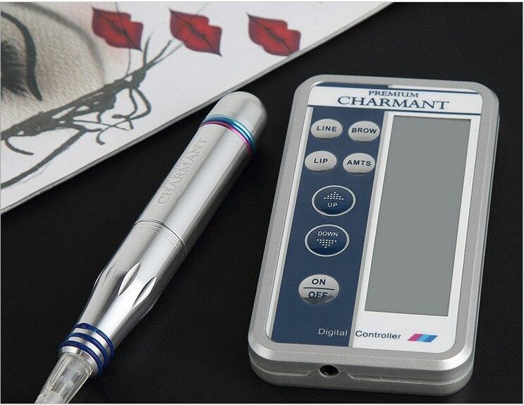 Elektriska digitala tatueringsmaskiner Permanenta sminkpennor för ögonbryns läppar Kropps Tatuering Kosmetiska kit Make Up Cartridge Needles