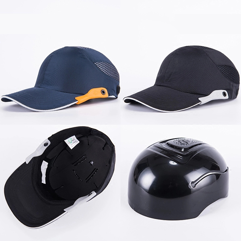 Navy blue Safety Bump Cap Baseball Bump Cap Head Protection Cap with Reflective Strips mr bump