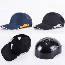 Navy blue Safety Bump Cap Baseball Bump Cap Head Protection Cap with Reflective Strips