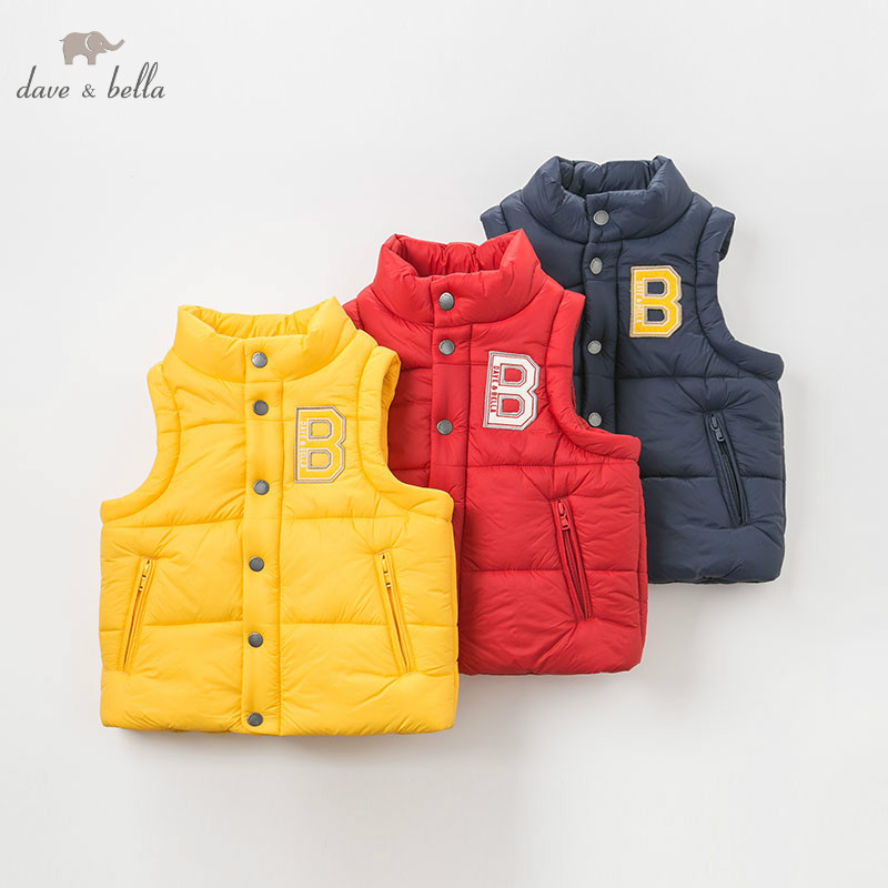 DBK8729 dave bella autumn winter kids girls boys fashion padded coats children sleeveless vestDBK8729 dave bella autumn winter kids girls boys fashion padded coats children sleeveless vest