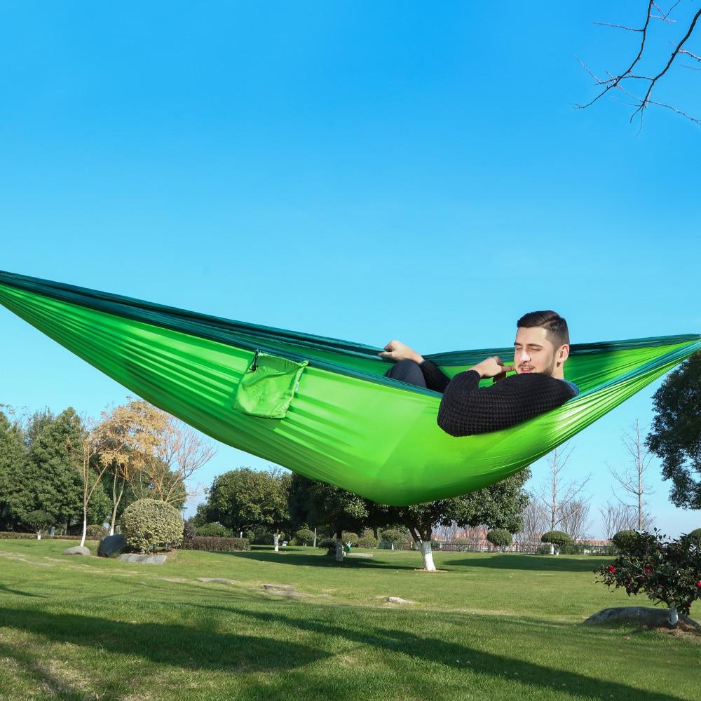 320*200cm Ultra-Large 2-3 People Sleeping Parachute Hammock Chair Hamak Garden Swing Hanging Outdoor  Hamacas Camping 125*78''