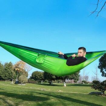 320*200cm Ultra-grande 2-3 personas durmiendo paracaídas hamaca silla hamaca jardín colgante al...