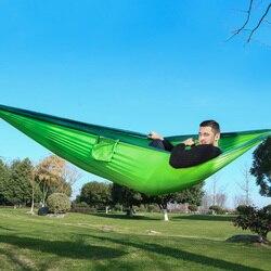 320*200cm ultra-grande 2-3 pessoas dormindo parachute rede cadeira hamak jardim balanço pendurado ao ar livre hamacas acampamento 125*78'