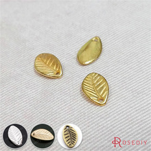 (29171)50PCS 11*7MM Gold Color Plated Zinc Alloy Small Tree leaf Charms Pendants Diy Jewelry Findings Accessories Wholesale